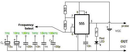 基于555定时器的方波发生器