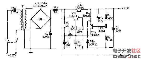 31cm黑白电视机电源电路图