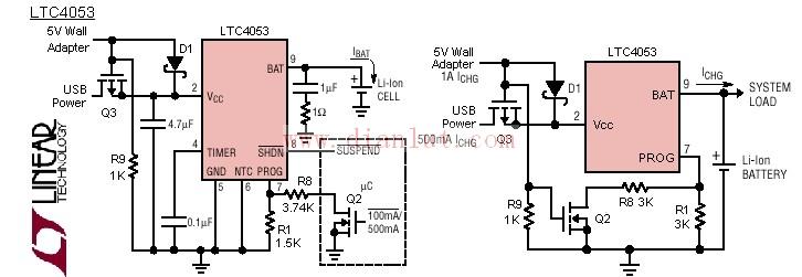 ltc4053usb充电器电路