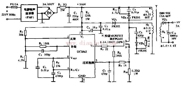uc3842典型应用电路