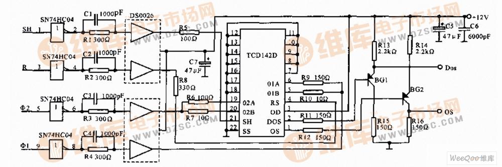 线阵ccd驱动电路图