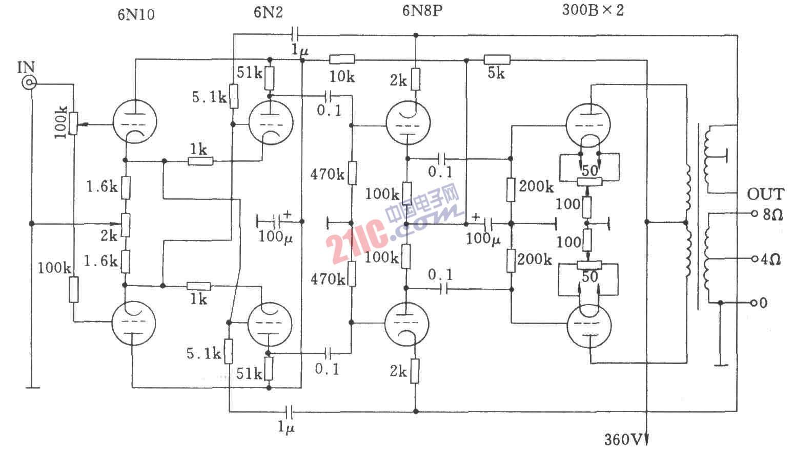 电子管柴尔/zell功放电路