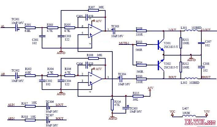 用于vcd音频放大电路