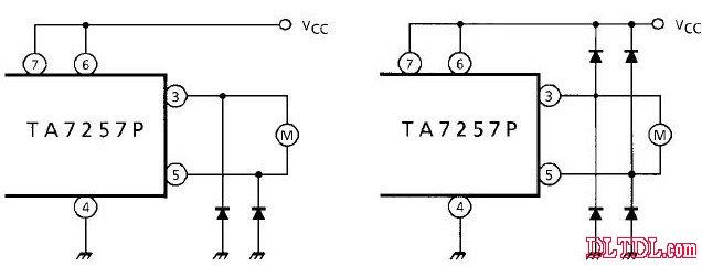 功能表: 引脚功能: 图2 附加二极管电路 maximum ratings 最大额定值