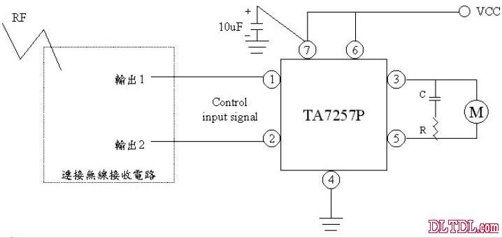 用红外线遥控连接ta7257p电路