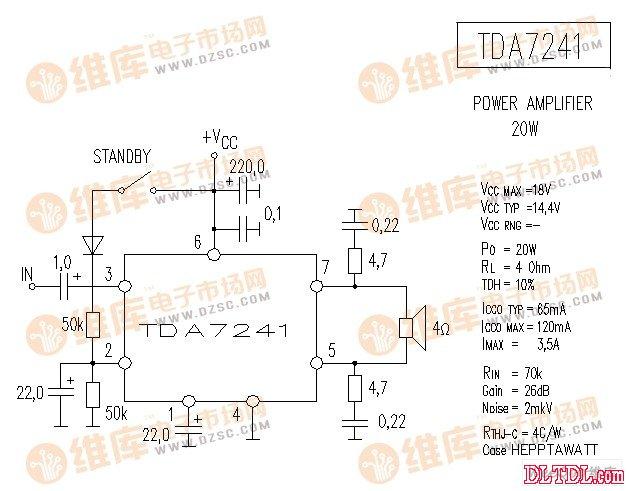 tda7241 音响ic电路图