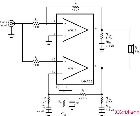 lm4766功放电路图纸原理图