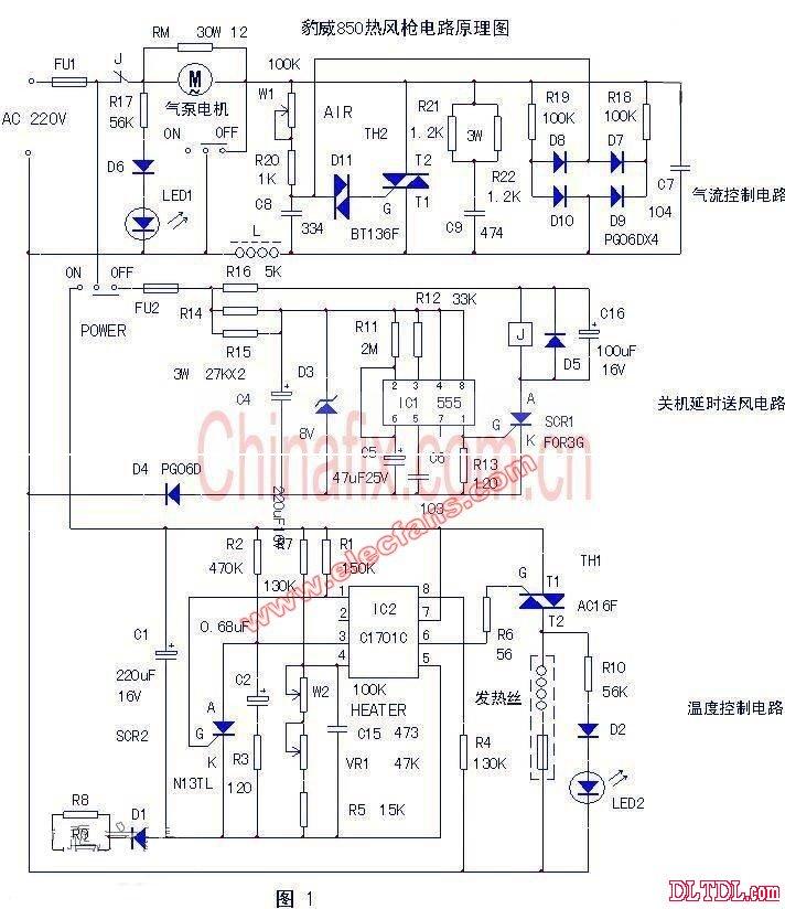 是豹威850热风枪电路图原理图 分享到:         感应式测电笔(cd4069)
