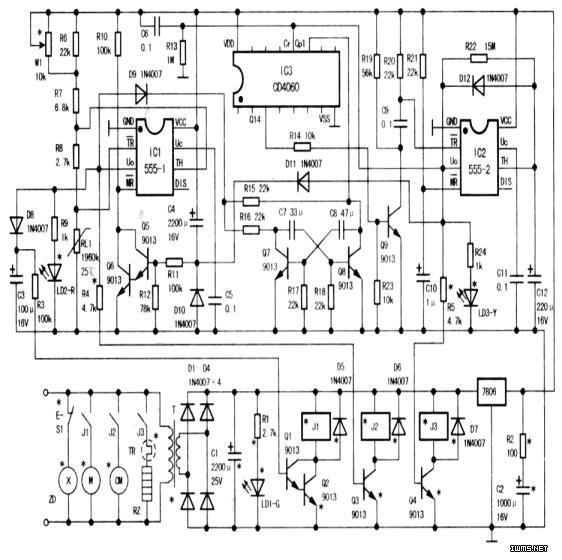 自制一套电冰箱控制电路